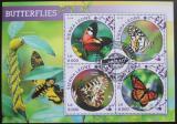 Poštovní známky Sierra Leone 2016 Motýli Mi# 6813-16 Kat 11€