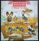 Poštovní známky Uganda 2013 Pes hyenovitý Mi# 3050-53 Kat 19€
