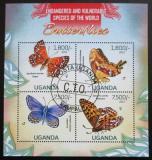 Poštovní známky Uganda 2013 Motýli Mi# 3015-18 Kat 22€
