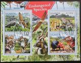 Poštovní známky Uganda 2012 Ohrožené druhy Mi# 2800-03 Kat 13€