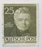 Západní Berlín 1953 Karl Schinkel Mi# 98