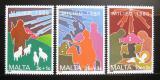 Poštovní známky Malta 1988 Křesťanské motivy, vánoce Mi# 806-08