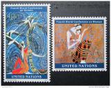 Poštovní známky OSN New York 1995 Konference žen Mi# 689-90
