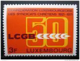 Poštovní známka Lucembursko 1971 Křesťanská únie Mi# 827