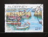 Poštovní známka Alderney 1991 Přístav v Braye Mi# 48
