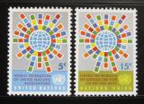 Poštovní známky OSN New York 1966 Vlajky členů Mi# 163-64