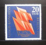 Poštovní známka DDR 1977 Kongres odborů Mi# 2219