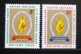 Poštovní známky OSN New York 1963 Lidská práva Mi# 136-37