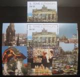 Poštovní známka Svatý Tomáš 1990 Brandenburská brána Mi# 1211 + Block 247