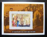 Poštovní známky Čad 1975 Americká revoluce Mi# Block 64
