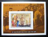 Poštovní známka Čad 1975 Americká revoluce neperf. Mi# Block 64 B