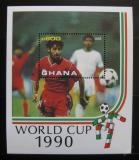 Poštovní známka Ghana 1990 MS ve fotbale Mi# Block 158