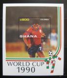 Poštovní známka Ghana 1990 MS ve fotbale Mi# Block 157