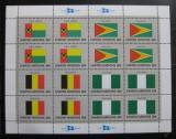 Poštovní známky OSN New York 1982 Vlajky členských států Mi# 409-12
