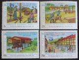 Poštovní známky Laos 1987 Bydlení pro bezdomovce Mi# 1034-37
