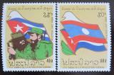Poštovní známky Laos 1989 Kubánská revoluce Mi# 1146-47