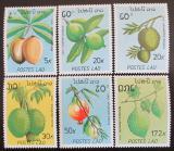 Poštovní známky Laos 1989 Ovoce Mi# 1169-74