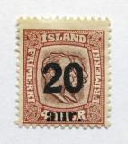 Poštovní známka Island 1922 Králové přetisk Mi# 109 Kat 35€