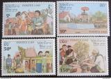 Poštovní známky Laos 1990 Nový rok Mi# 1236-39