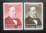 Poštovní známky Island 1968 Jón Magnússon Mi# 424-25