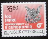 Poštovní známka Rakousko 1992 Odbory železničářů Mi# 2059
