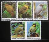 Poštovní známky Papua Nová Guinea 1989 Ptáci Mi# 597-601