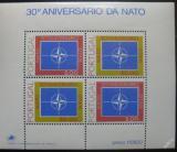 Poštovní známka Portugalsko 1979 Výročí NATO Mi# Block 26