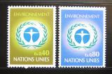 Poštovní známky OSN Ženeva 1972 Životní prostředí Mi# 25-26