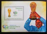 Poštovní známka Tanzánie 2006 MS ve fotbale Mi# Block 588