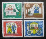 Poštovní známky Německo 1966 Žabí král Mi# 523-26