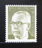 Poštovní známka Německo 1970 Prezident Heinemann Mi# 644