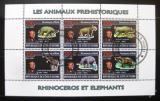 Poštovní známky Pobřeží Slonoviny 2009 Pravěcí sloni a nosorožci