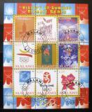 Poštovní známky Malawi 2008 Historie letních olympijských her