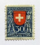 Poštovní známka Švýcarsko 1924 Erb Švýcarska Mi# 212