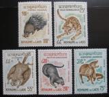 Poštovní známky Laos 1965 Zvířata Mi# 166-70