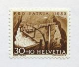 Poštovní známka Švýcarsko 1953 Řeka Bisse Mi# 583