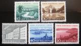 Poštovní známky Švýcarsko 1955 Pohledy Mi# 613-17