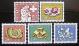 Poštovní známky Švýcarsko 1958 Pro patria Mi# 657-61