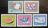 Poštovní známky Švýcarsko 1959 Pro patria Mi# 674-78