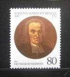 Poštovní známka Německo 1987 Johann Albrecht Bengel, teolog Mi# 1324