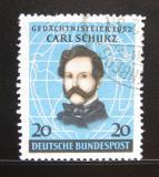 Poštovní známka Německo 1952 Carl Schurz, politik Mi# 155