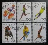 Poštovní známky Tanzánie 1993 Sporty Mi# 1467-72