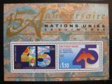 Poštovní známka OSN Ženeva 1990 Výročí OSN Mi# Block 6