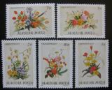 Poštovní známky Maďarsko 1989 Květiny Mi# 4019-23