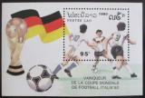 Poštovní známka Laos 1990 MS ve fotbale Mi# Block 135