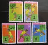 Poštovní známky Svatý Tomáš 1981 Africké hry Mi# 738-42