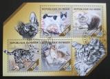 Poštovní známky Niger 2014 Domácí kočky Mi# 2850-53 Kat 12€