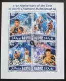 Poštovní známky Maledivy 2014 Box, Muhammad Ali Mi# 5279-82 Kat 11€