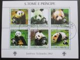 Poštovní známky Svatý Tomáš 2003 Pandy Mi# 2148-53