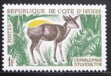 Poštovní známka Pobřeží Slonoviny 1964 Cephalophus Mi# 259
